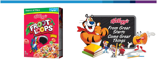Kellogg's Froot Loops* cereal coupon