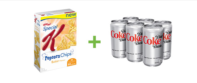 Buy Special K* Popcorn Chips and Diet Coke® coupon
