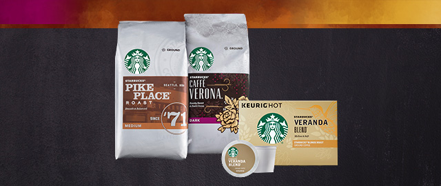 Starbucks® Packaged Coffee & K-Cup® Packs coupon