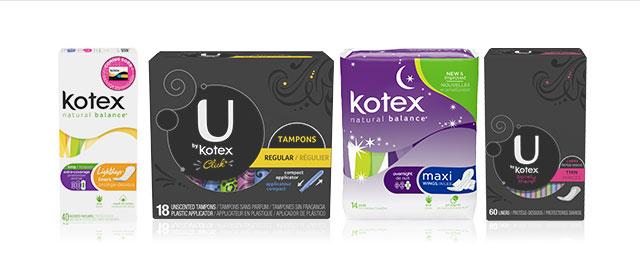 Kotex® or U by Kotex® at select retailers coupon