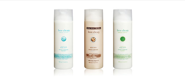Live Clean body wash coupon