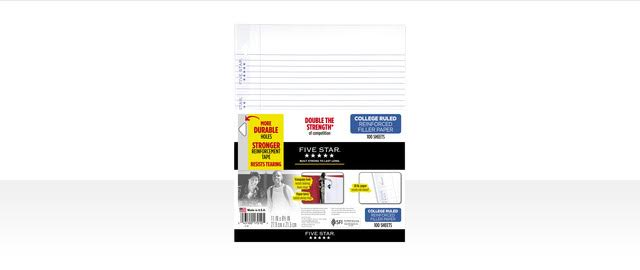 Buy 2: FIVE STAR® Reinforced Filler Paper coupon