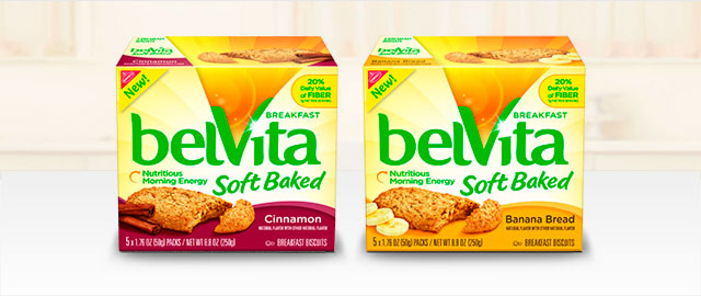 Buy 2: belVita Soft Baked Breakfast Biscuits coupon