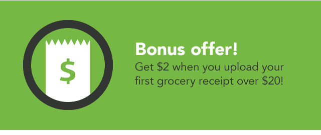 Upload your first receipt (of $20 or more) coupon