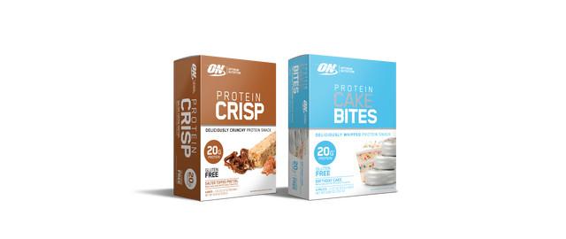 Optimum Nutrition Protein Crisp or Protein Cake Bites coupon