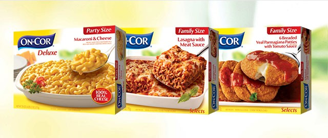 ON-COR family size entrees coupon