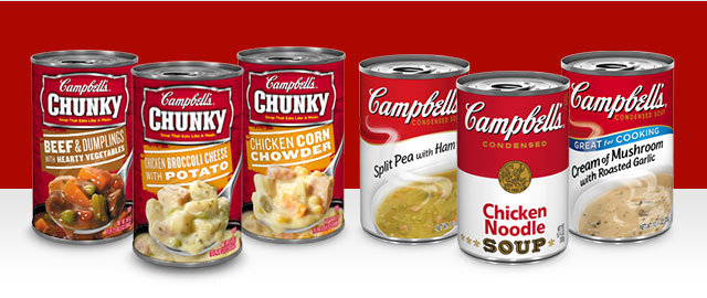 Campbell's Condensed or Chunky Soup coupon