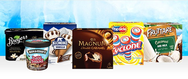 Unilever ice cream multipack or tub coupon