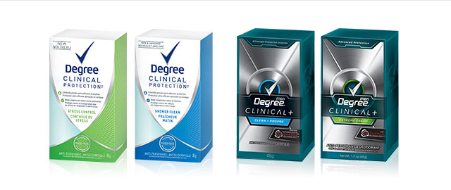 Degree Clinical Strength anti-perspirant coupon