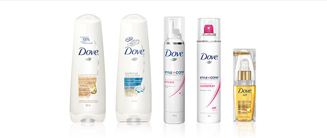 DOVE® Hair Care products coupon