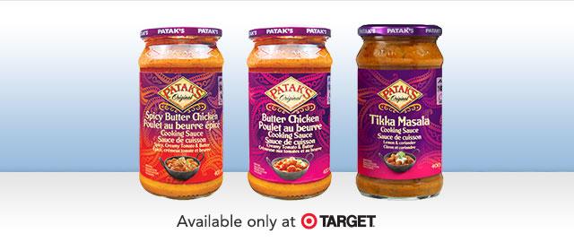 At Target: Patak's Sauce coupon