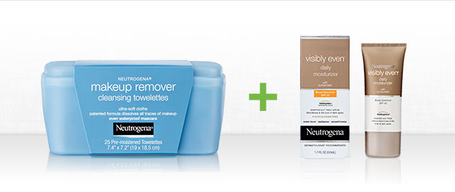 Neutrogena® Makeup Remover + any Visibly Even® product coupon