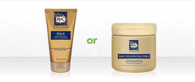 RoC® Resurfacing Cleanser or Disks coupon