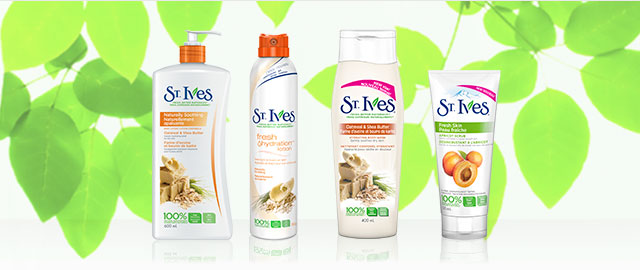Buy 2: St. Ives® body lotion, body wash or facial products coupon