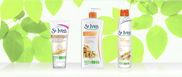 St. Ives® facial scrub + lotion products  coupon