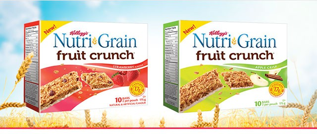 Nutri-Grain Fruit Crunch* bars coupon