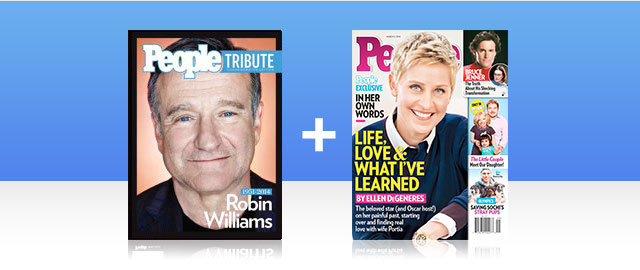 Combo: Robin Williams PEOPLE Bookazine + PEOPLE Magazine coupon