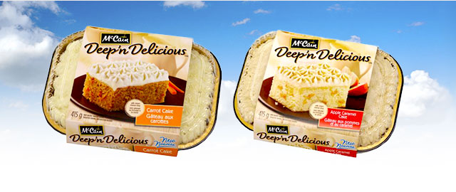 McCain® Deep 'n Delicious® Carrot or Apple Caramel Cake coupon
