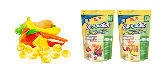 Buy 2: Gerber Fruit & Veggie Melts coupon